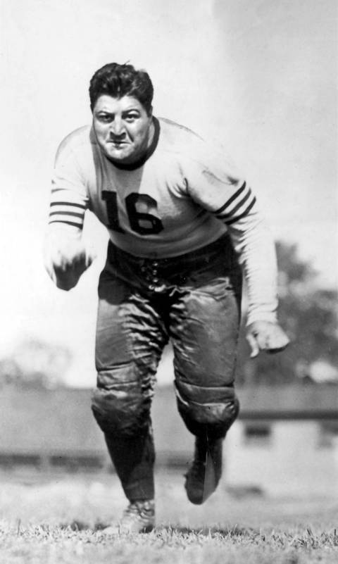 George Musso was one of the most important defensive players during the Bears' greatest era. Musso played guard and was also an offensive tackle during a career when the Bears won seven division titles and four NFL championships (1933, 1940, 1941 and 1943). The first player to win All-NFL honors at two positions, Musso was elected to Hall of Fame in 1982.