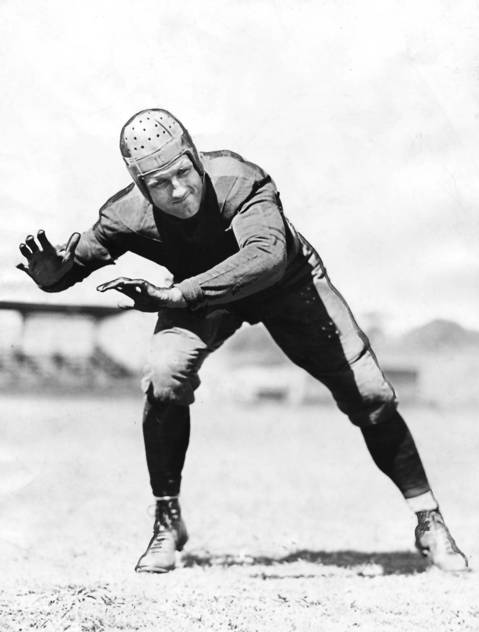 Bronco Nagurski was a bulldozing, do-everything player for most of the 1930s. He gained 4,031 yards over nine seasons. Threw two touchdown passes in the 1933 championship game. Nagurski game out of retirement after five season to help the Bears to the 1943 league title.
