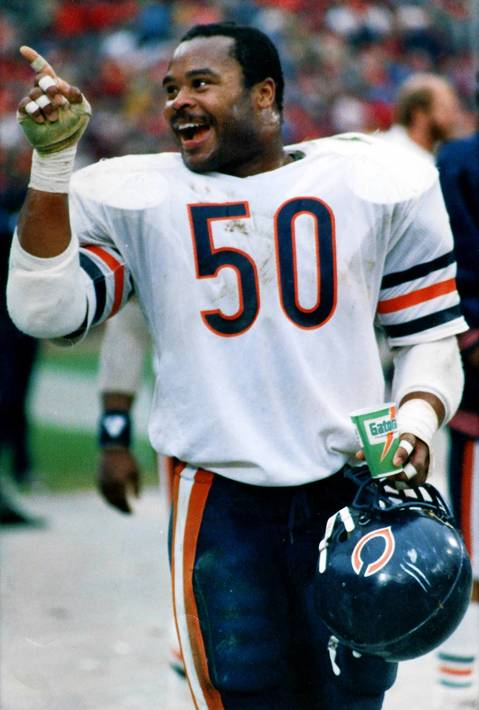 "Mike Singletary was drafted by the Bears in 1981 in the 2nd round of the draft and was known as ""The Heart of the Defense"" for the Monsters of the Midway in the mid-1980s. He was inducted into the Pro Football Hall of Fame in 1998."