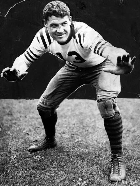 Joe Stydahar played offensive tackle for the Bears from 1936-1942 and 1945-1946. He is also well known for being the first player drafted by the Bears (No. 6 overall) in the first ever NFL Draft in 1936 by George Halas.