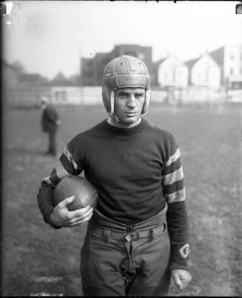 "After attending Northwestern University, John ""Paddy"" Driscoll played the 1919 season with the Hammond Pros (pre-NFL). From 1920-1925, he led the Chicago Cardinals and was also head coach from 1920 to 1922. In 1926, the Cardinals traded him to the Bears where he continued to carry his team until he retired after the 1929 season. Later, he was head coach of the Bears for two seasons (1956 and 1957), compiling a record of 14-10-1."