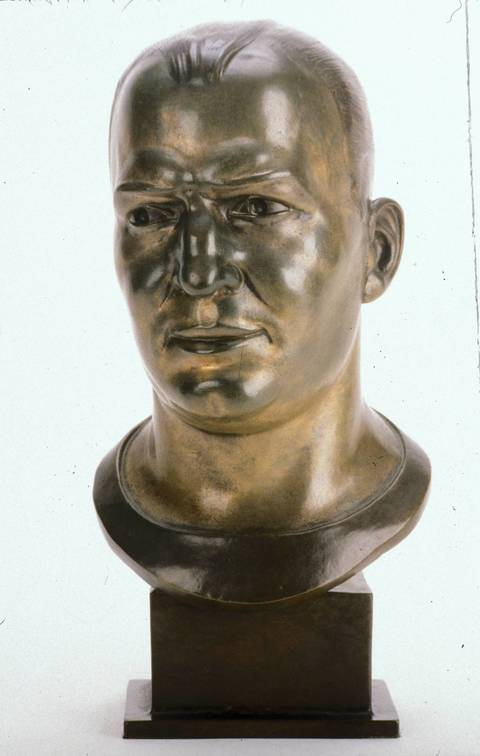 Hall of Fame bust of Paddy Driscoll.