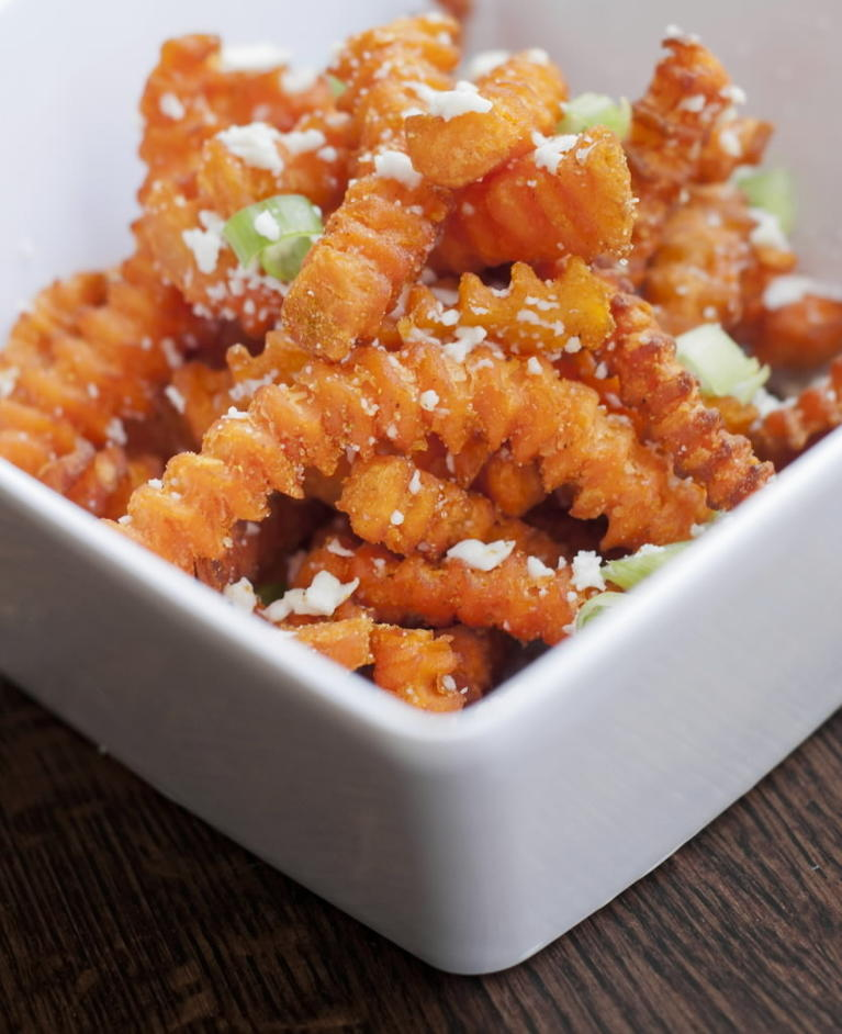Curry Sweet Potato Fries At Saucy Porka 400 S Financial Pl Order In