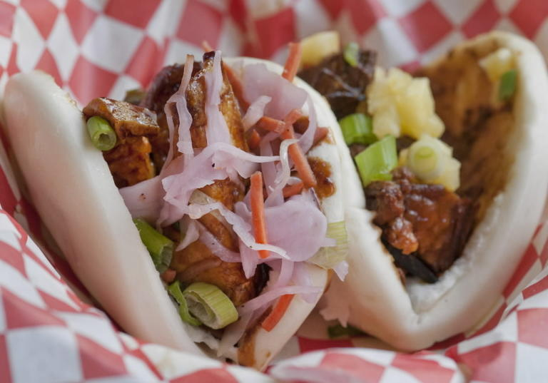 Bao Tacos At Saucy Porka 400 S Financial Pl Order In The