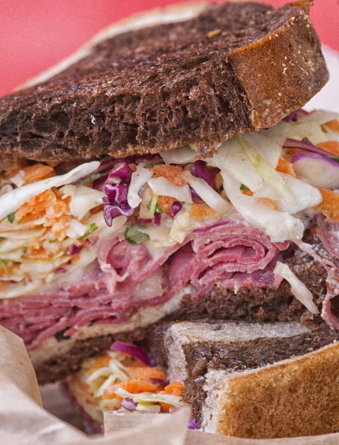 The Reuben on rye from The Fat Shallot food truck.