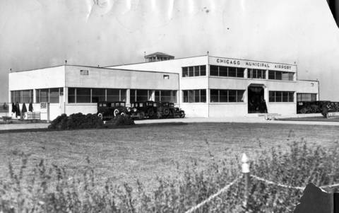 In November 1931, a $100,000 building at Chicago Municipal Airport was formally dedicated to be used by all the airlines. The opening was followed by a luncheon at the Palmer House.