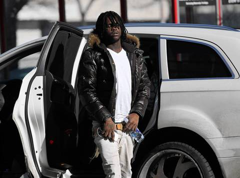 Chief Keef arrives at Cook County Juvenile Center for his sentence the next day.