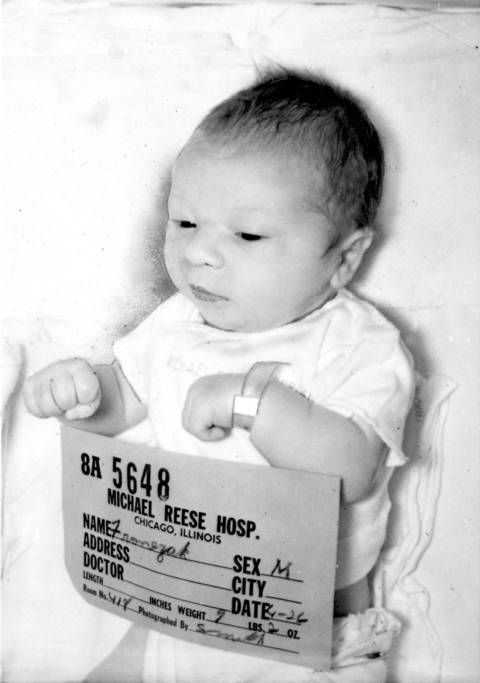Paul Joseph Fronczak shortly after he was born at Michael Reese Hospital.