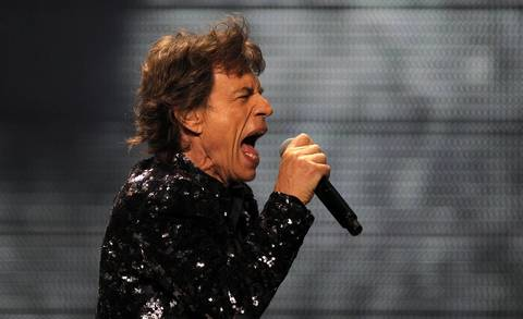Mick Jagger performs with the Rollings Stones at the United Center in Chicago.