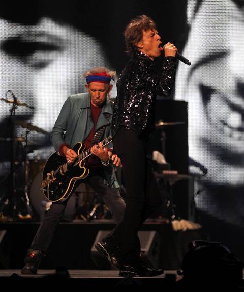 The Rollings Stones perform at the United Center in Chicago.