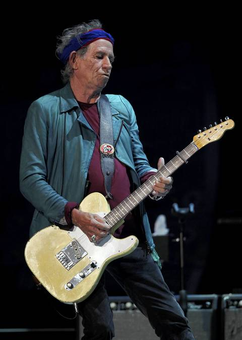Keith Richards solos during a Rolling Stones concert at the United Center in Chicago.