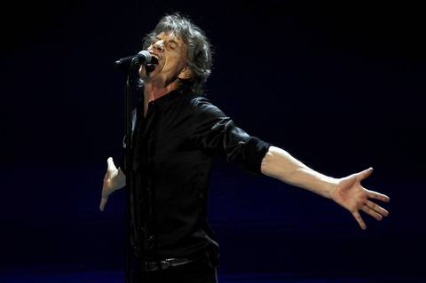 Mick Jagger leads The Rollings Stones at the United Center in Chicago.