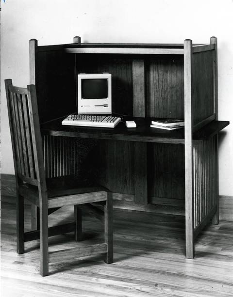 Macintosh Plus computer. The picture was published in 1991.