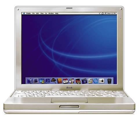 Apple iBook in 2002.