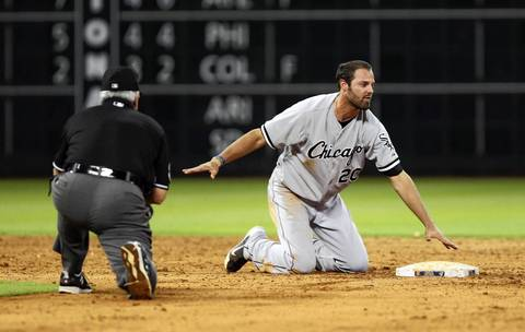 Pinch-runner Jordan Danks is picked off of second base for the final out against the Astros.