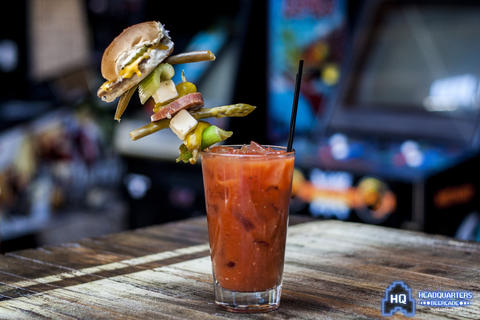 Try this Sunday special, the Sip & Slide Bloody Mary ($10) at Headquarters, 950 Wolfram in Lakeview. It has a White Castle slider garnish.