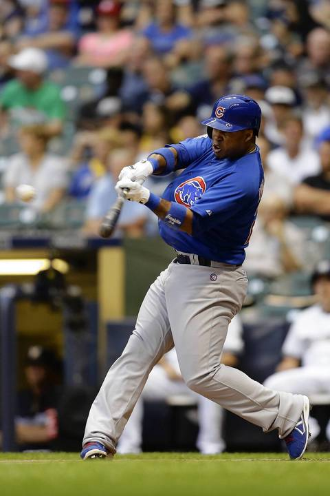 Luis Valbuena singles in the top of the first.