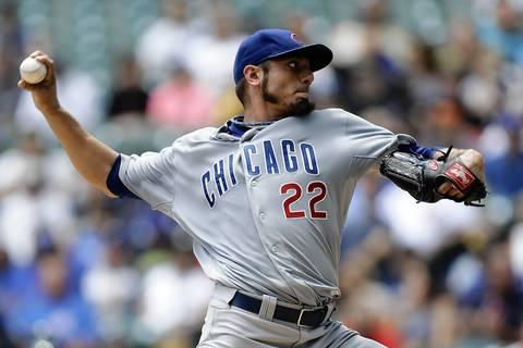 Matt Garza pitches in the first inning.