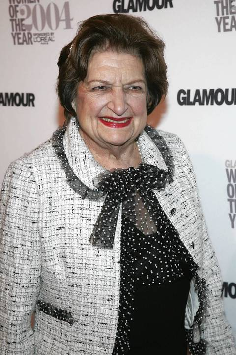 """Lifetime Achievement honoree news reporter Helen Thomas attends the 15th Annual Glamour """"Women of the Year"""" Awards at the American Museum of Natural History in 2004."""