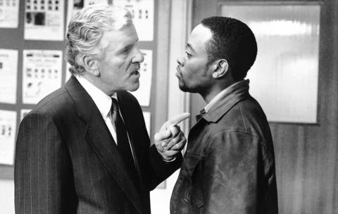 """Dennis Farina, left, stars as Captain Adam Greer and Omar Epps stars as Linc in MGM Pictures' """"The Mod Squad"""" in 1999."""