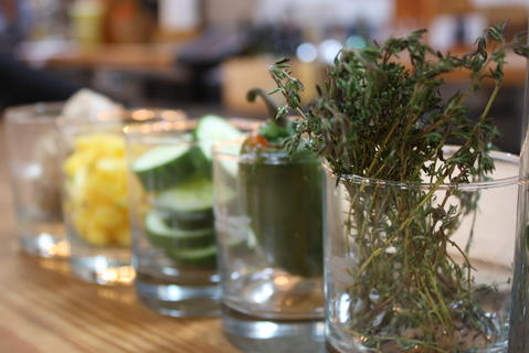 Fresh ingredients sit atop the Bartaco bar.
