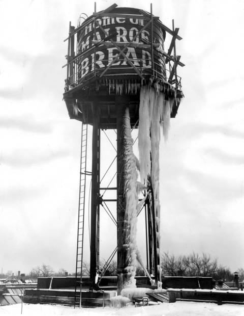 A slight leak and freezing weather resulted in big icicles on the water tower at 2354 Winnemac Ave. in Chicago.