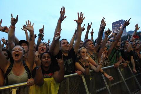 Nine Inch Nails perform at Lollapalooza.