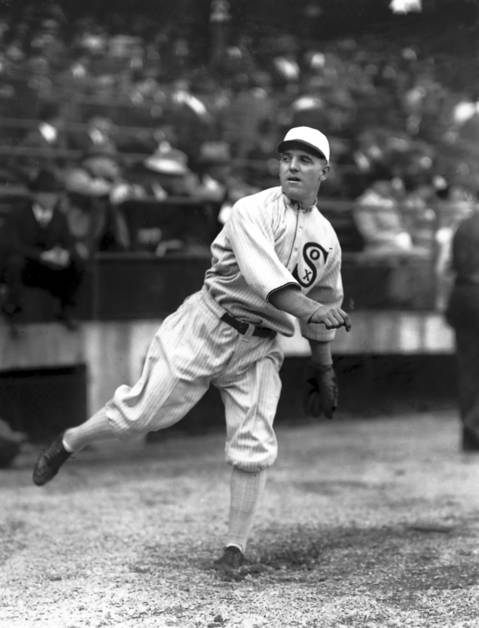 Chicago White Sox pitcher Eddie Cicotte pitched during the 1919 World Series games against the Cincinnati Reds.