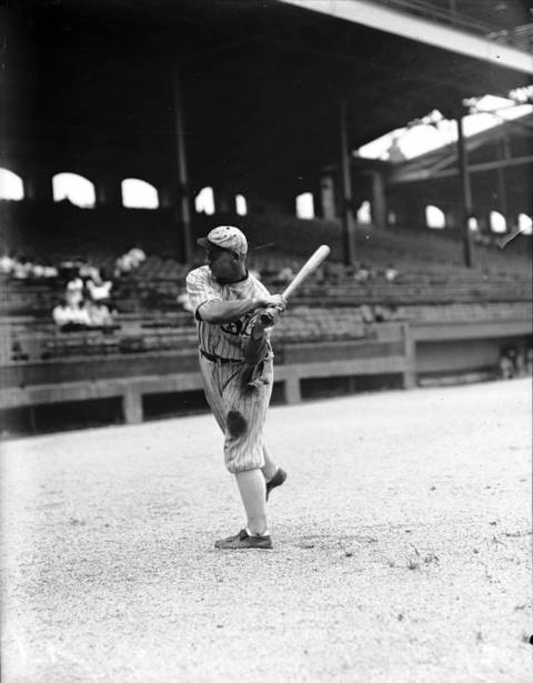 Chicago White Sox outfielder Oscar 'Happy' Felsch in 1916. Felsch was part of the Black Sox scandel.