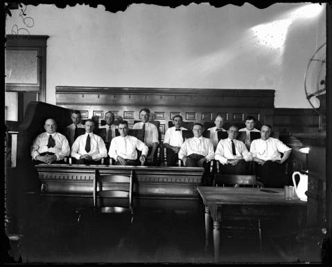 This is the jury that heard the case in 1921 against the eight White Sox players accused of throwing the 1919 World Series. It took them only two hours of deliberation on Aug. 2, 1921 to find the players not guilty. Two days later, Commissioner Kenesaw Mountain Landis banned the players for life.