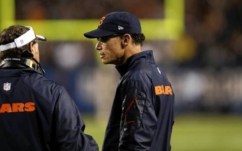 Bears coach Mark Trestman stands on the sideline in the second quarter.