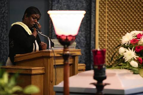 Jacobi Herring is remembered during his funeral.