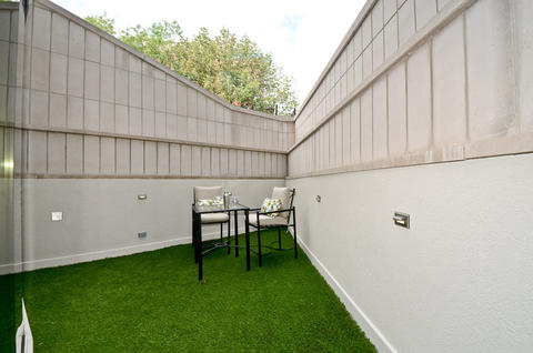 One of the outdoor spaces.