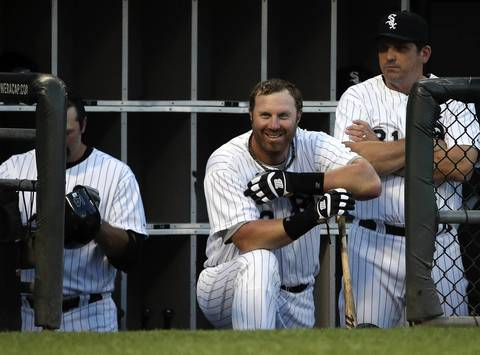 Adam Dunn in the dutout.