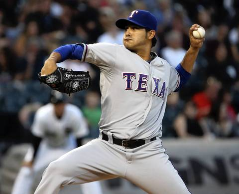 Rangers starting pitcher Martin Perez.
