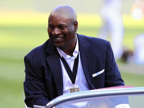 Bo Jackson is honored pregame.