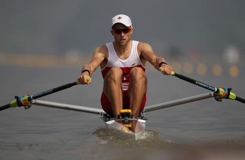 Nicolas Pratt of Canada competes in the Lightweight Men's Single Sculls during day one of the 2013 World Rowing Championships on August 25, 2013 in Chungju, South Korea.