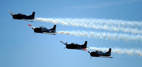 Action at the Lehigh Valley Airshow Saturday. The show continues Sunday.