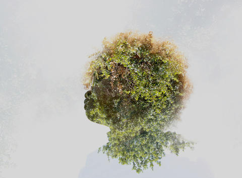 Double-exposure photos made in Central Florida.
