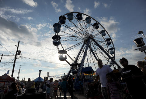 Opening of the Great Allentown Fair Tuesday night August 27, 2013,