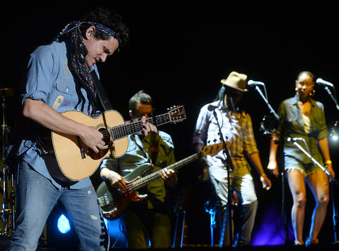 John Mayer performs at the Allentown Fair Grandstand on Tuesday, August 27, 2013.