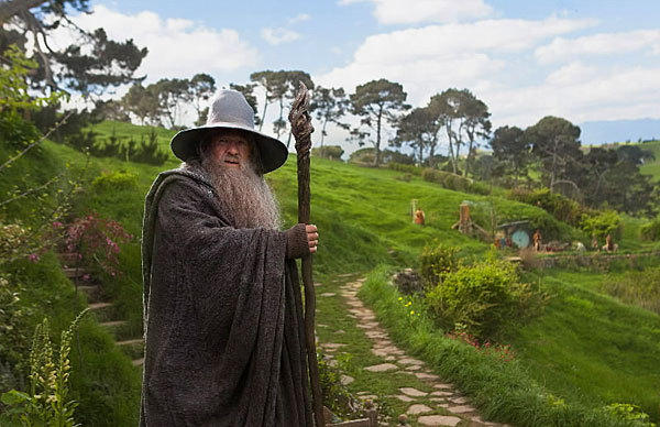 "Master wizard Gandalf in the upcoming fantasy movie, ""The Hobbit: An Unexpected Journey."""