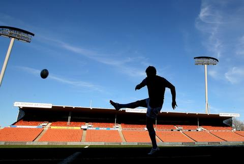 New Zealand All Black's first five Beauden Barrett during the captains run at Waikato Stadium in Hamilton on September 6, 2013. Argentina will play against the New Zealand's All Blacks on September 7 as part of the Investec Rugby Championship.