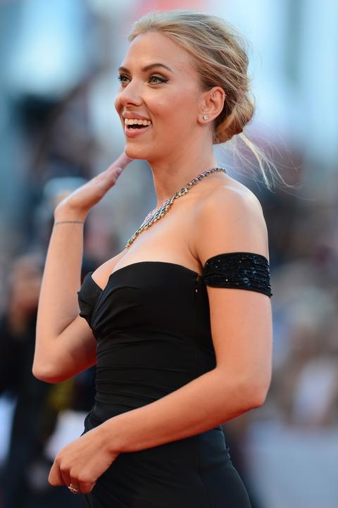 Scarlett Johansson attends 'Under The Skin' Premiere during the 70th Venice International Film Festival.
