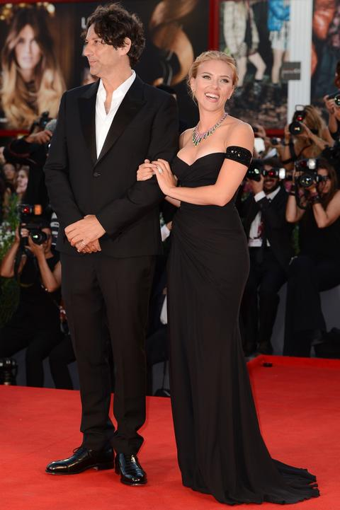 """Director Jonathan Glazer and actress Scarlett Johansson attend """"Under The Skin"""" Premiere during the 70th Venice International Film Festival."""