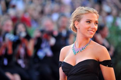 Scarlett Johansson arrives for the screening of 'Under the Skin' presented in competition at the 70th Venice Film Festival.