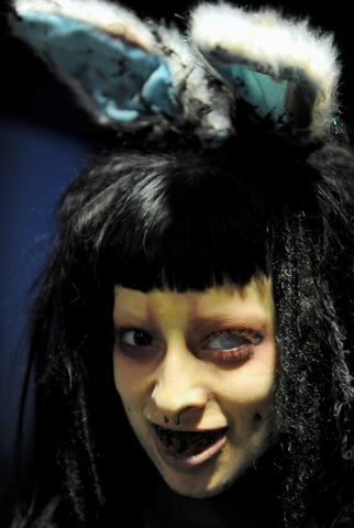 Jessica Higgs, plays Rabbit at the Hotel of Horror in Saylorsburg.  She attends ParaFest 2013 held at the Sands Bethlehem Events Center.  It will run from Friday, September 6 through Sunday, September 8, 2013.