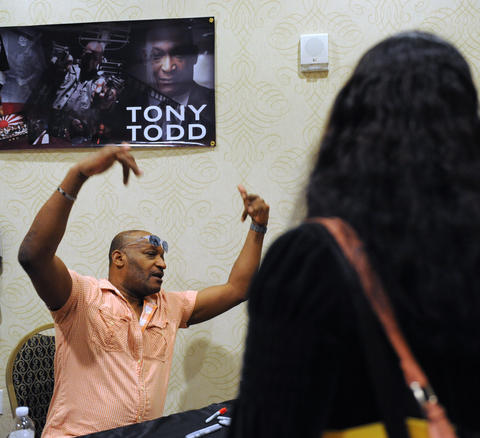 Actor, Tont Todd, signs autographs at ParaFest 2013 held at the Sands Bethlehem Events Center. It will run from Friday, September 6 through Sunday, September 8, 2013.