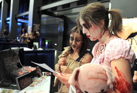 (L to R) Hazel and Sarina from the asylum, attend ParaFest 2013 held at the Sands Bethlehem Events Center.  It will run from Friday, September 6 through Sunday, September 8, 2013.