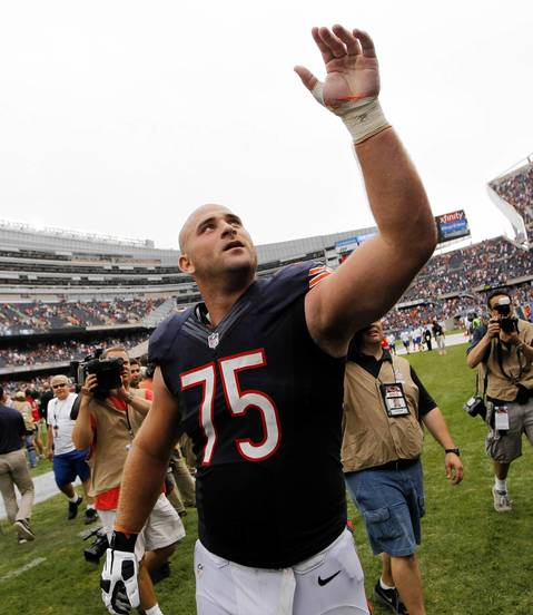 Rookie Kyle Long after the win.
